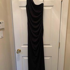 Laundry black floor length dress